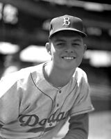 1956 Brooklyn Dodgers DON DRYSDALE Glossy 8x10 Photo Baseball Rookie Poster
