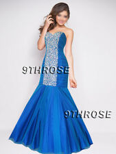 COVERGIRL LOOK! TURQUOISE BLUE BEADED FORMAL/PROM/BALL/BRIDESMAID DRESS AU12US10