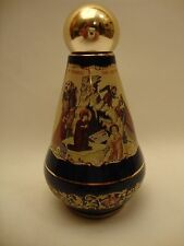 Christian Icon Ceramic  Nativity Jesus & POPE Holy Water Bottle One of a Kind