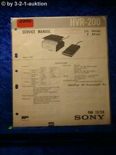 Sony Service Manual HVR 200 Pan Tilter (#2900)
