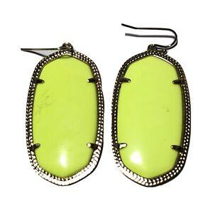 Kendra Scott Neon Yellow Elle Earrings Gold Plated