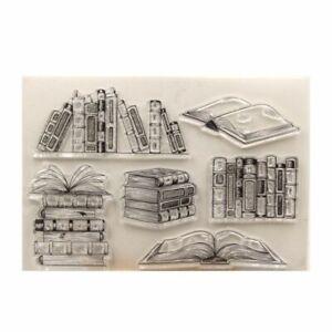 Books Theme Transparent Clear Stamp DIY Scrapbooking Card Making Fun Decoration