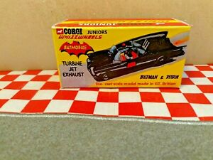 Corgi Juniors Batmobile,, Custom EMPTY Reproduction box only  NO CAR