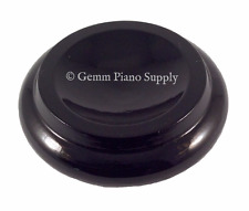 "Gemm Piano Hardwood Maple Caster Cups, Ebony High Gloss, 3-1/2"" x 2-3/8"""