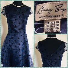 Lindy Bop Dehlia Navy Polka Dot Dress 1950's Rockabilly Style BNWT