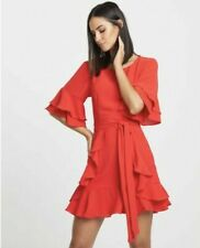 Size:16 (New) Stunning Feminine Elegant Ruffle Red Cocktail Party Red Dress