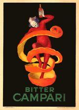 BITTER CAMPARI, 1921, LEONETTO CAPPIELLO, 250gsm Poster Art Deco A3