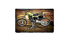 1981 rm125x Bike Motorcycle A4 Retro Metal Sign Aluminium