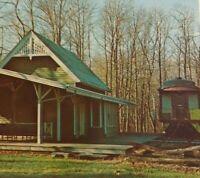 Long Island Railroad Train Station Depot Postcard Wantagh NY Nassau County Photo