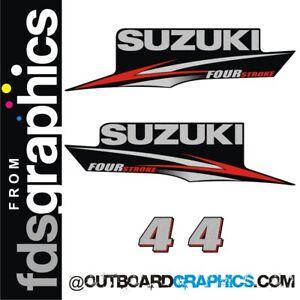 Suzuki DF4 4hp four stroke outboard engine decals/sticker kit