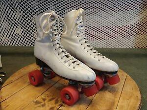 Vintage Championship Leather Roller Skates size 9 Roller Derby Disco