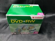 10 Pack  New Verbatim Life Plus DVD+RW Discs Factory  Sealed