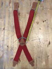 Mens Carhart Dungaree Suspenders Red