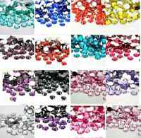 New 2000pcs Crystal Rhinestone Silver Flat Back Diamante Acrylic Gems 2/3/4/5mm,