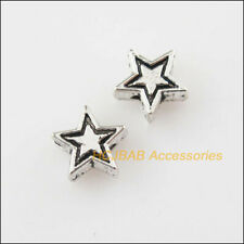 45 New Tiny Star Charms Tibetan Silver Tone Spacer Beads 7.5mm