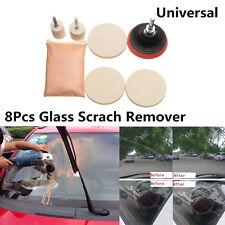 8Pcs Car Windshield Glass Scrach Remover &8 OZ Cerium Oxide Powder Polishing Kit