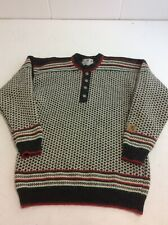 E42 JANUS men's 100% Pure New Wool Sweater Made In Norway Size L