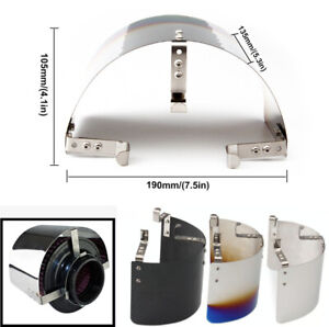 """Stainless Steel Car Interior Heat Shield Cover for 2.5"""" to 5"""" Air Inlet Filter"""
