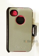 New Authentic Gray Pink Otterbox Defender Case Holster Clip Apple iPhone 4 4S