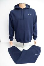 Nike Mens Jogging Tracksuit, Large, Blue, L Hoodie & M Bottoms, VGC
