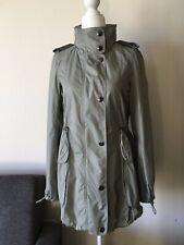 BURBERRY PRORSUM NWOT Women's Trench Jacket Coat w Hood Seal Gray Size 36 US 2