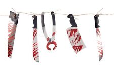 2M HALLOWEEN BLOODY WEAPON GARLAND PARTY PROP DECORATION KNIFE MEAT CLEAVER