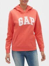 Bnew Gap Logo Fleece Hoodie Jacket, Small, orange fire coral