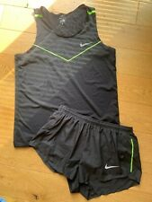 Mens Nike Dri-fit Running Set Shorts and Vest in Black Size Medium