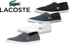 Masculino Lacoste sapatos Maricas Bl 2 Preto Slip-On Canvas Shoes 7-33CAM1071-024 Novo