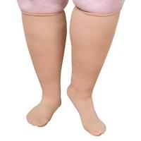 "Extra Wide Moderate Compression Knee Highs Under 5'6"" - 15-20 mmHg- Beige"