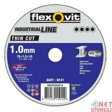 FLEXOVIT 66252833014 DISCHI DISCO DA TAGLIO SOTTILE PER INOX 76x1x10 mm
