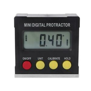 360 Degree Digital Protractor Inclinometer Electronic Level Box Magnetic Base