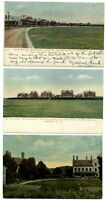 Lot of 3 Old Fort Ontario Oswego NY New York ~ 1905-1911 vintage postcards