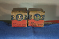 "UTC ""Ouncer"" P-5 Plate to Grid Audio Transformer Matched Pair New"