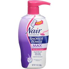 Nair Hair Remover Shower Power Max Legs Body Cream Sponge Lavender Vita E 13 oz