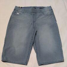 Nine West Blue Denim Pullon Stretch Bermuda Shorts 12