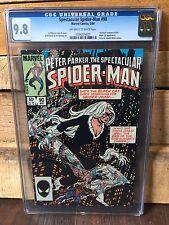 SPECTACULAR SPIDER-MAN #90 CGC 9.8 NM/MT 1ST BLACK COSTUME IN TITLE (ID 6852)