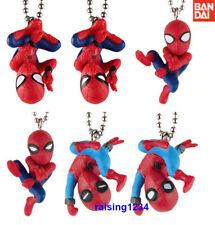 Bandai Marvel Spider-Man Homecoming Figure Keychain Gashapon set 6 pcs