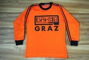 ADIDAS MADE IN WEST GERMANY 80s FOOTBALL SHIRT JERSEY TRIKOT GRAZ AUSTRIA D5/6