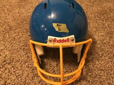 Riddell Revolution Large Adult Football Helmet (Blue with a Yellow Face Mask)