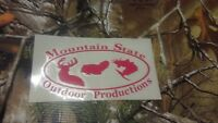 Mountain State Outdoors Window Decal Logo