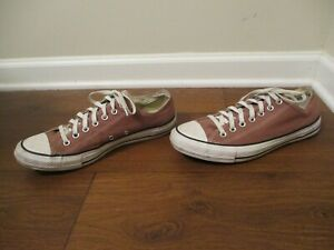 Used Size 11 Fit Like 11.5 - 12 Converse Chuck Taylor All Star Low Shoes Mauve