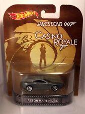 Hotwheels Retro Aston Martin DBS de James Bond Casino Royale De Goma Real Rider