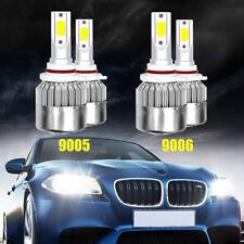 9005 9006 Combo LED Headlight Bulbs Kit 6000K for GMC Sierra 1500 2500 2001-2006