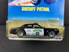 1991 Hot Wheels Sheriff Patrol #59 Police Car 7sp Blue Card Diecast 1549 NEW