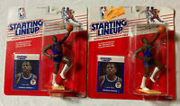 (LOT OF 2) NBA STARTING LINEUP 1988 ~PATRICK EWING~ NY KNICKS ACTION FIGURE&CARD