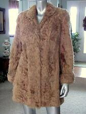 Very Fine Vtg Fur Coat PERSIAN BROADTAIL LAMB SOFT WAVY FUR JACKET Giffel Furs