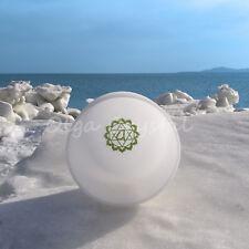 "8"" F Heart Green Chakra Symble Quartz Crystal Singing Bowl Meditation Heal Stone"