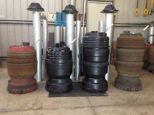Potbelly Shed Heater 3 Drum Unpainted Wood Truck Brake Drum Garage Entertainment