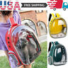 Pet Portable Carrier Backpack Space Capsule Travel Dog Cat Bag Transparent USA